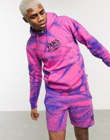 バンズ メンズ パーカー・スウェット アウター Vans Park hoodie in pink tie dye Fuchsia purple tiedy