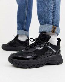カルバンクライン メンズ スニーカー シューズ Calvin Klein Marvin chunky sneakers in triple black Black