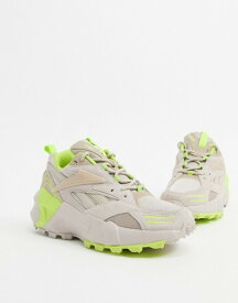 リーボック レディース スニーカー シューズ Reebok Aztrek Double sneakers in chalk and yellow Chalk