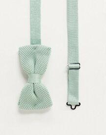 ツイステッド テイラー メンズ ネクタイ アクセサリー Twisted Tailor knitted bow tie in mint green Green