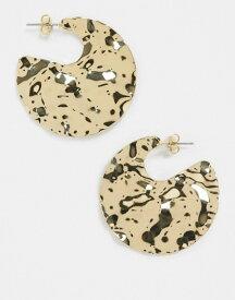 フレンチコネクション レディース ピアス・イヤリング アクセサリー French Connection molten gold earrings Gold