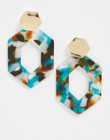 フレンチコネクション レディース ピアス・イヤリング アクセサリー French Connection resin drop down earrings in green Multi
