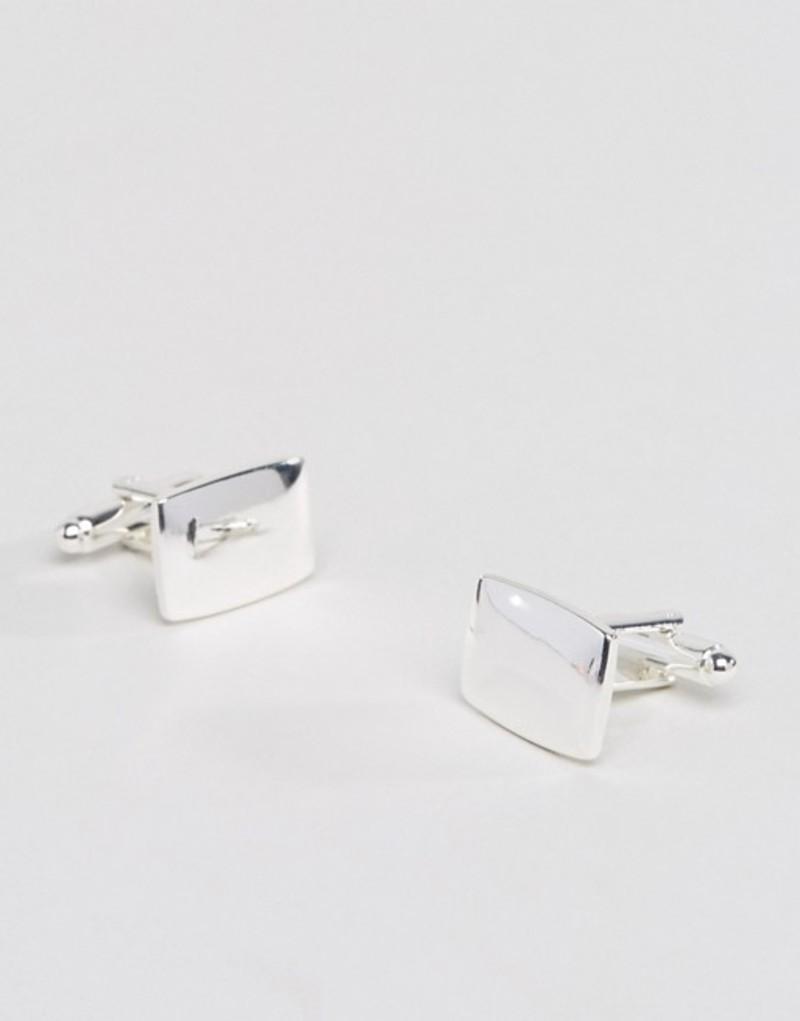 エイソス メンズ カフスボタン アクセサリー ASOS Square Cufflinks in Silver Silver