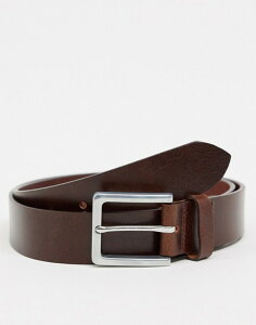 ファーラー メンズ ベルト アクセサリー Farah Langer classic leather belt in brown Brown