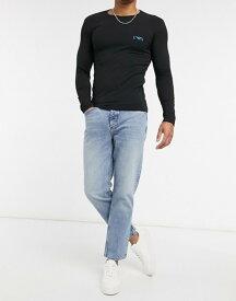 リバーアイランド メンズ デニムパンツ ボトムス River Island straight jeans in light blue Lt blue