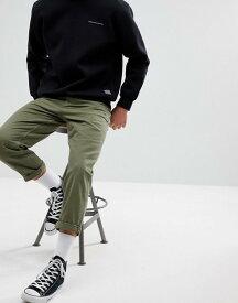 エイソス メンズ デニムパンツ ボトムス ASOS Skater Fit Jeans In Khaki Green