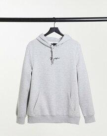 リバーアイランド メンズ パーカー・スウェット アウター River Island Prolfic muscle fit hoodie in gray Grey