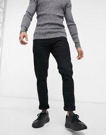 リバーアイランド メンズ デニムパンツ ボトムス River Island skinny jeans in black Black
