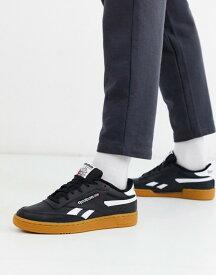 リーボック メンズ スニーカー シューズ Reebok Classics Club C Revenge sneakers in black with gum sole Black