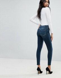 エイソス レディース デニムパンツ ボトムス ASOS RIDLEY High Waist Skinny Jeans In Turya Aged Blue Wash Mid wash blue