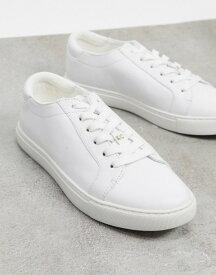 ケネスコール レディース スニーカー シューズ Kenneth Cole kam sneakers in white leather White