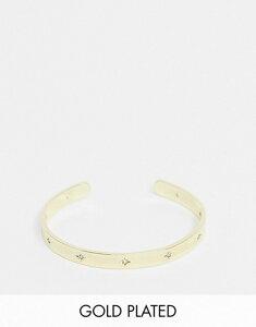 シャシ レディース ブレスレット・バングル・アンクレット アクセサリー Shashi celestial cuff bracelet in gold 18K gold plated