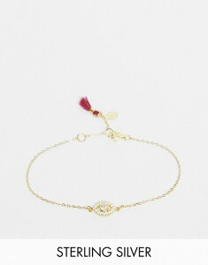 シャシ レディース ブレスレット・バングル・アンクレット アクセサリー Shashi embellished eye charm bracelet in gold vermeil plated sterling silver 18K gold plated