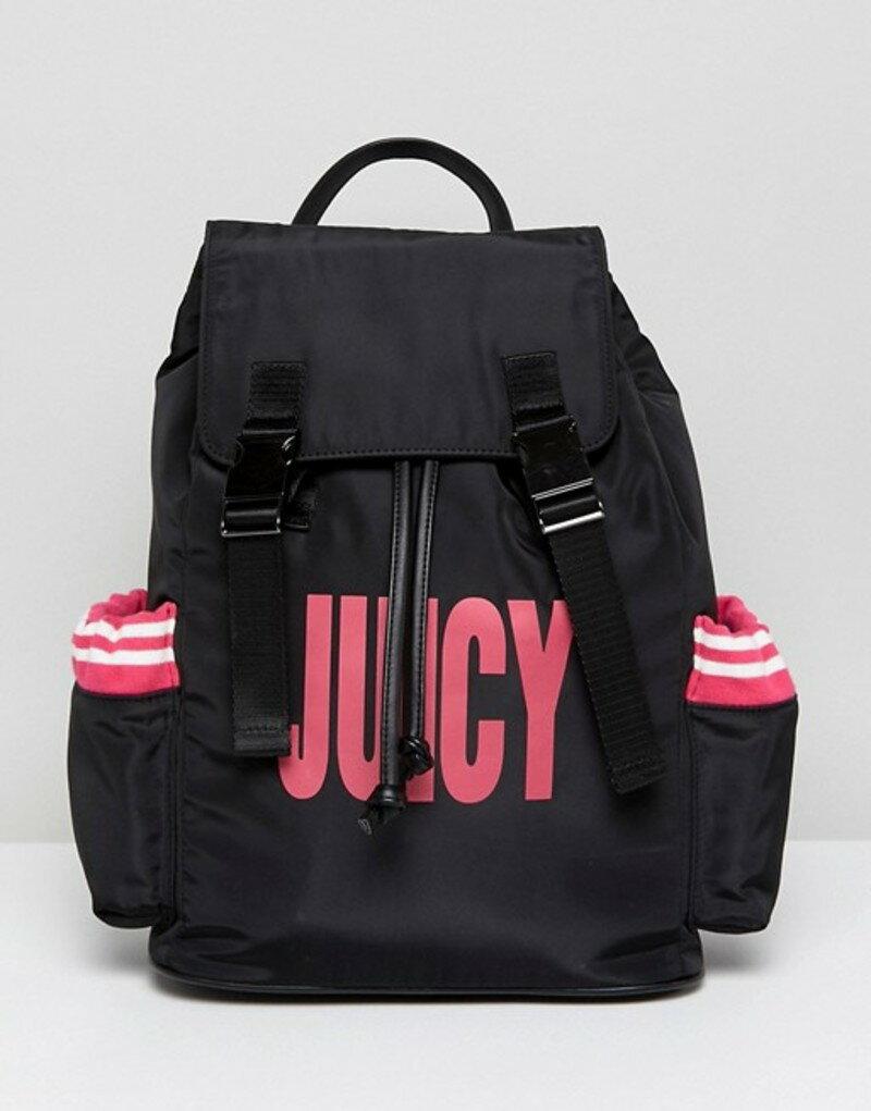 ジューシークチュール レディース バックパック・リュックサック バッグ Juicy By Juicy Couture Nylon Logo Backpack Black/pink