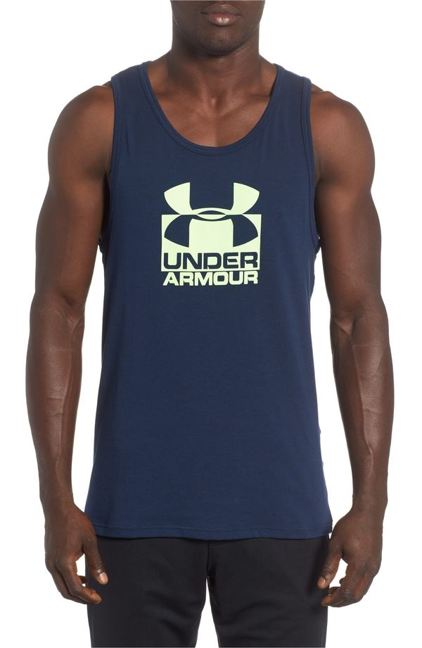 アンダーアーマー メンズ シャツ トップス Under Armour Split Sportstyle Tank Academy Blue/Quirky Lime