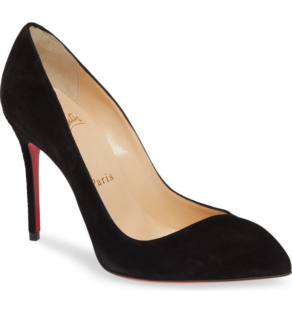 クリスチャン・ルブタン レディース パンプス シューズ Christian Louboutin 'Corneille' Pump (Nordstrom Exclusive Color) Black Suede