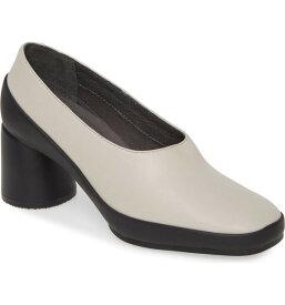 カンペール レディース ヒール シューズ Camper Upright Column Heel Pump (Women) Beige Leather