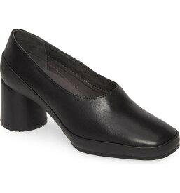 カンペール レディース ヒール シューズ Camper Upright Column Heel Pump (Women) Black Leather