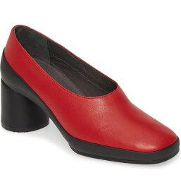 カンペール レディース ヒール シューズ Camper Upright Column Heel Pump (Women) Red Leather
