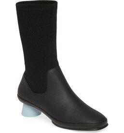 カンペール レディース ブーツ・レインブーツ シューズ Camper Alright Cone Heel Boot (Women) Black Fabric