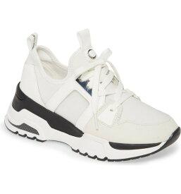 カルバンクライン レディース スニーカー シューズ Calvin Klein Huma Sneaker (Women) White Fabric