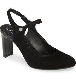 カルバンクライン レディース パンプス シューズ Calvin Klein Omaha Slingback Pump (Women) Black Suede