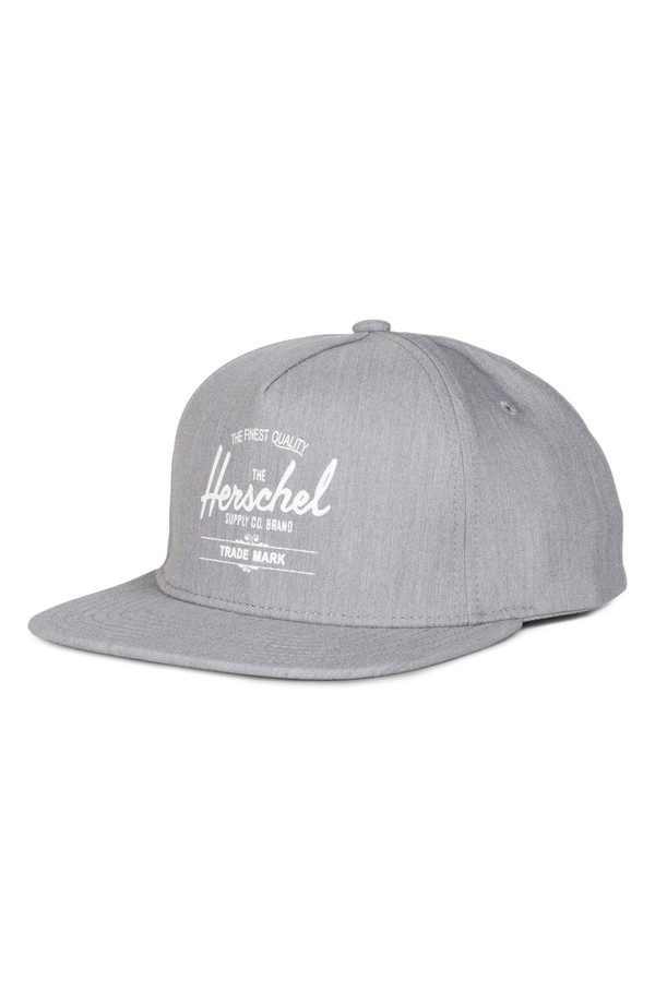 ハーシェルサプライ メンズ 帽子 アクセサリー Herschel Supply Co. Whaler Snapback Baseball Cap Heather Grey