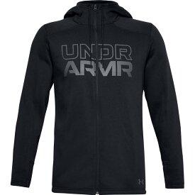 アンダーアーマー メンズ シャツ トップス Under Armour Men's Baseline Full-Zip Hoodie Black/Pitch Gray