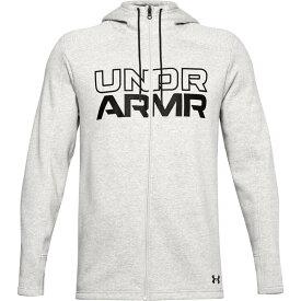 アンダーアーマー メンズ シャツ トップス Under Armour Men's Baseline Full-Zip Hoodie Mod Gray Heather/Black