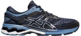 アシックス メンズ スニーカー シューズ ASICS Men's GEL-Kayano 26 Running Shoes Navy/Grey