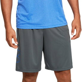 アンダーアーマー メンズ ハーフパンツ・ショーツ ボトムス Under Armour Men's Tech Graphic Shorts (Regular and Big & Tall) Pitch Gray/Versa Blue