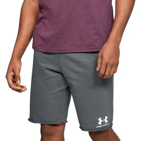 アンダーアーマー メンズ ハーフパンツ・ショーツ ボトムス Under Armour Men's Sportstyle Terry Fleece Shorts Pitch Gray/Onyx White