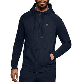 アンダーアーマー メンズ パーカー・スウェット アウター Under Armour Men's Rival Fleece Full Zip Hoodie (Regular and Big & Tall) Academy/Black