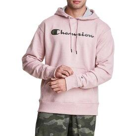 チャンピオン メンズ パーカー・スウェット アウター Champion Men's Powerblend Script Graphic Hoodie Dream Pink