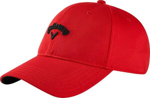 キャラウェイ メンズ 帽子 アクセサリー Callaway Men's Stretch Fitted Hat Red/Black