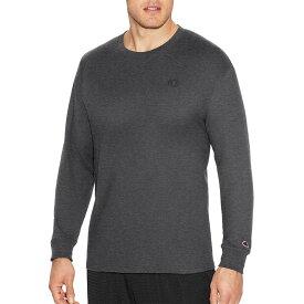 チャンピオン メンズ シャツ トップス Champion Men's Classic Cotton Long Sleeve Shirt Granite Heather