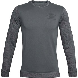 アンダーアーマー メンズ シャツ トップス Under Armour Men's Sporstyle Terry Long Sleeve Shirt Pitch Gray Full Heather