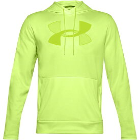 アンダーアーマー メンズ パーカー・スウェット アウター Under Armour Men's Armour Fleece Big Logo Hoodie Lime Fizz/Green Citrine
