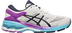 アシックス レディース スニーカー シューズ ASICS Women's GEL-Kayano 26 Running Shoes White/Peacoat