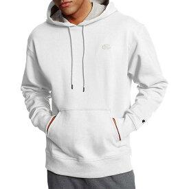 チャンピオン メンズ パーカー・スウェット アウター Champion Men's Powerblend Fleece Hoodie White