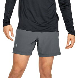 "アンダーアーマー メンズ ハーフパンツ・ショーツ ボトムス Under Armour Men's Speedpocket 7"" Shorts (Regular and Big & Tall) Pitch Gray"