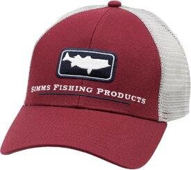 シムズ メンズ 帽子 アクセサリー Simms Adult Striper Icon Trucker Hat Rusty Red