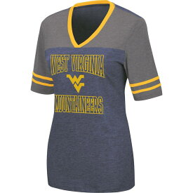 コロシアム レディース Tシャツ トップス Colosseum Women's West Virginia Mountaineers Blue Cuba Libre V-Neck T-Shirt