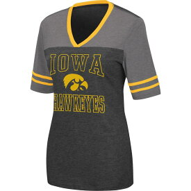 コロシアム レディース Tシャツ トップス Colosseum Women's Iowa Hawkeyes Cuba Libre V-Neck Black T-Shirt