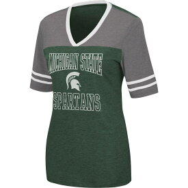 コロシアム レディース Tシャツ トップス Colosseum Women's Michigan State Spartans Green Cuba Libre V-Neck T-Shirt