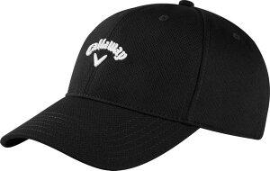 キャラウェイ メンズ 帽子 アクセサリー Callaway Men's Stretch Fitted Hat Black/White