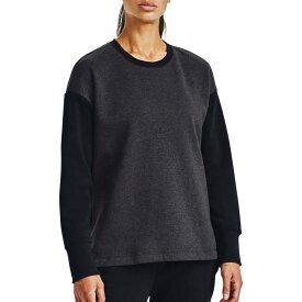 アンダーアーマー レディース パーカー・スウェット アウター Under Armour Women's Rival Fleece EMB Crew Sweatshirt Black Medium Heather