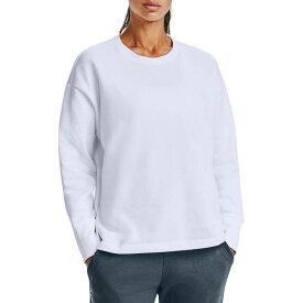 アンダーアーマー レディース パーカー・スウェット アウター Under Armour Women's Rival Fleece EMB Crew Sweatshirt White