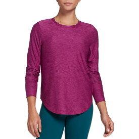 DSG レディース シャツ トップス DSG Women's Everyday Heather Long Sleeve Shirt (Regular and Plus) Lush Berry