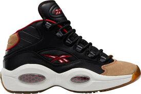 リーボック メンズ スニーカー シューズ Reebok Question Mid Basketball Shoes Black/Red/Grey